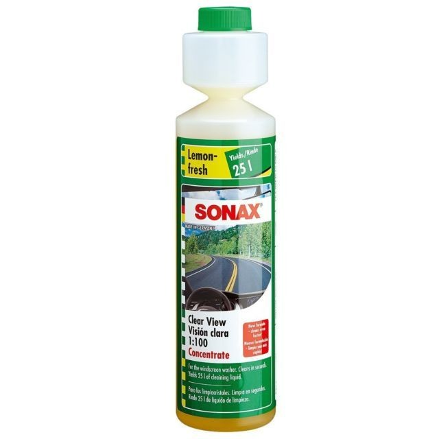 Жидкость стеклоомывателя SONAX (250мл) концентрат 1:100 Лимон