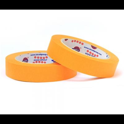Малярный скотч лента EUROCEL Оранжевый (19мм х 40м)