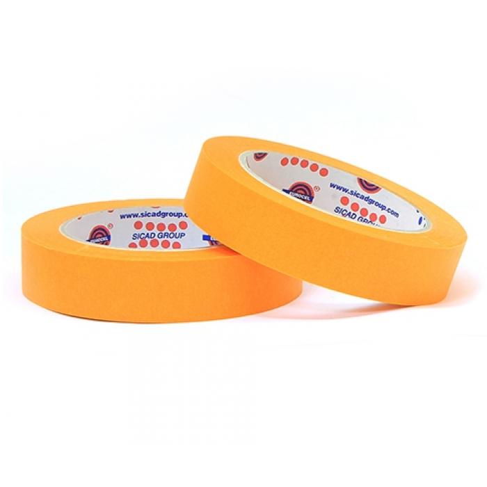 Малярный скотч лента EUROCEL Оранжевый (30 мм х 40м)