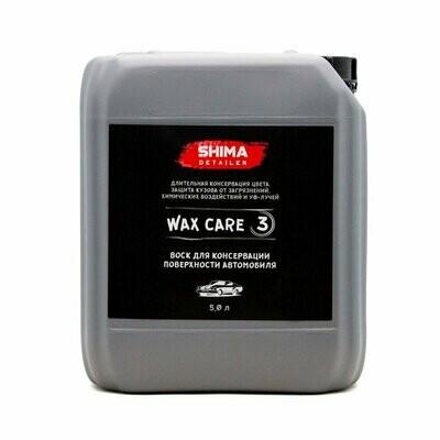 Жидкий Воск для консервации поверхности автомобиля SHIMA DETAILER WAX CARE 3 (5л)