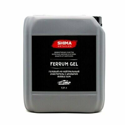 Очиститель дисков Нейтральный SHIMA DETAILER FERRUM GEL BUBBLE GUM (5л) Аромат Бабл Гам