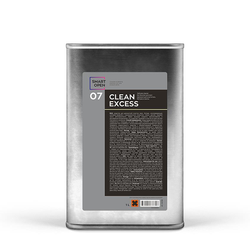 Деликатный очиститель битумных пятен и смолы Smart Open 07 CLEAN EXPRESS (1л)