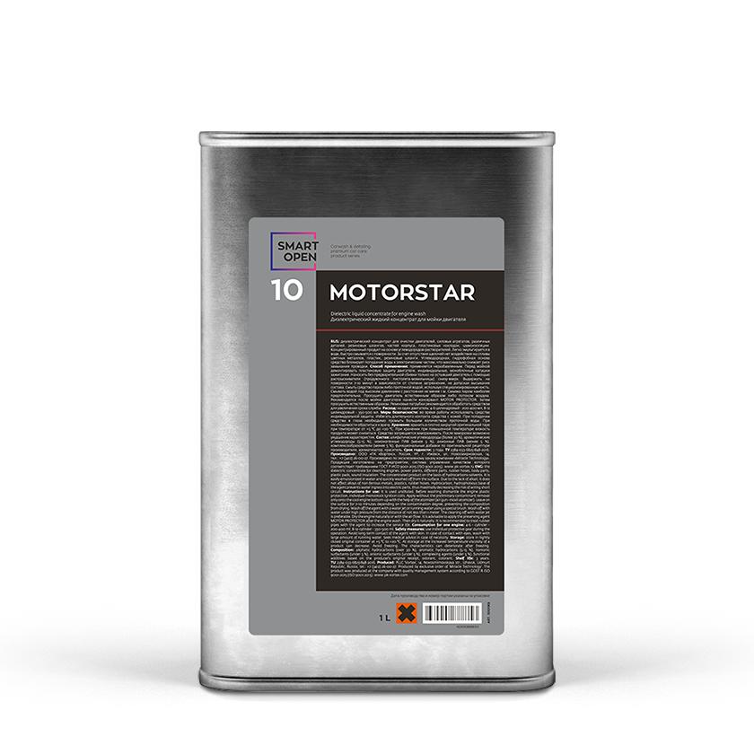 Средство для мойки двигателя Диэлектрический концентрат Smart Open 10 MOTORSTAR (1л)