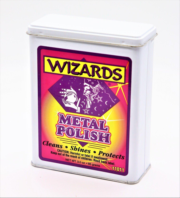 Вата для очистки металла и хрома WIZARDS METAL POLISH (85гр)