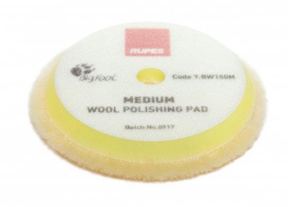 Меховой круг Мягкий из натуральной овчины RUPES Желтый (150мм)