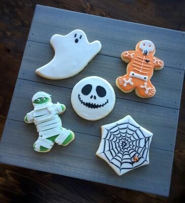 Halloween Cookies - 6 Cookies (No gift box)