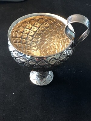 Greek solid silver cup goblet .925 marked. Pristine condition 133g weight