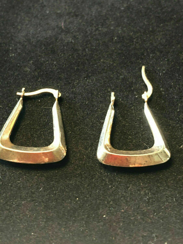 Vintage gold hoop earrings 9ct circa 1960's