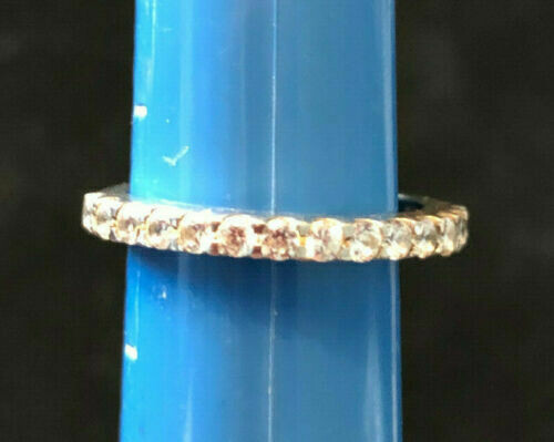 Vintage Sterling Silver .925 ring set with Cubic Zirconias
