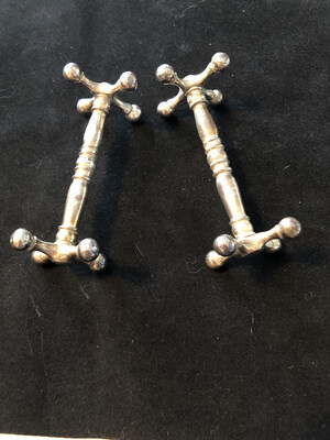 Victorian Silver Plated Cutlery Rests - pair