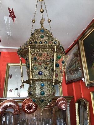 Arabic Lantern Or Lamp - Imported From Middle East Circa 1930