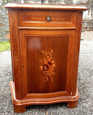 Inlaid Bedside Cabinet