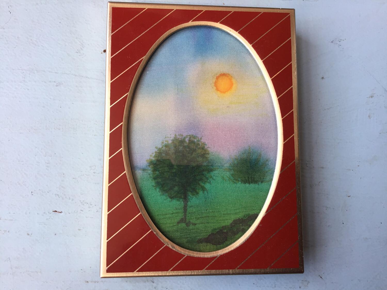 Watercolour On Pure Silk - By Carol Piper 1992 - Ard Bruach Loch Carron, Scotland