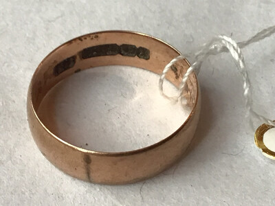 1897 Antique Wedding Band - 9ct Gold Hallmarked Birmingham