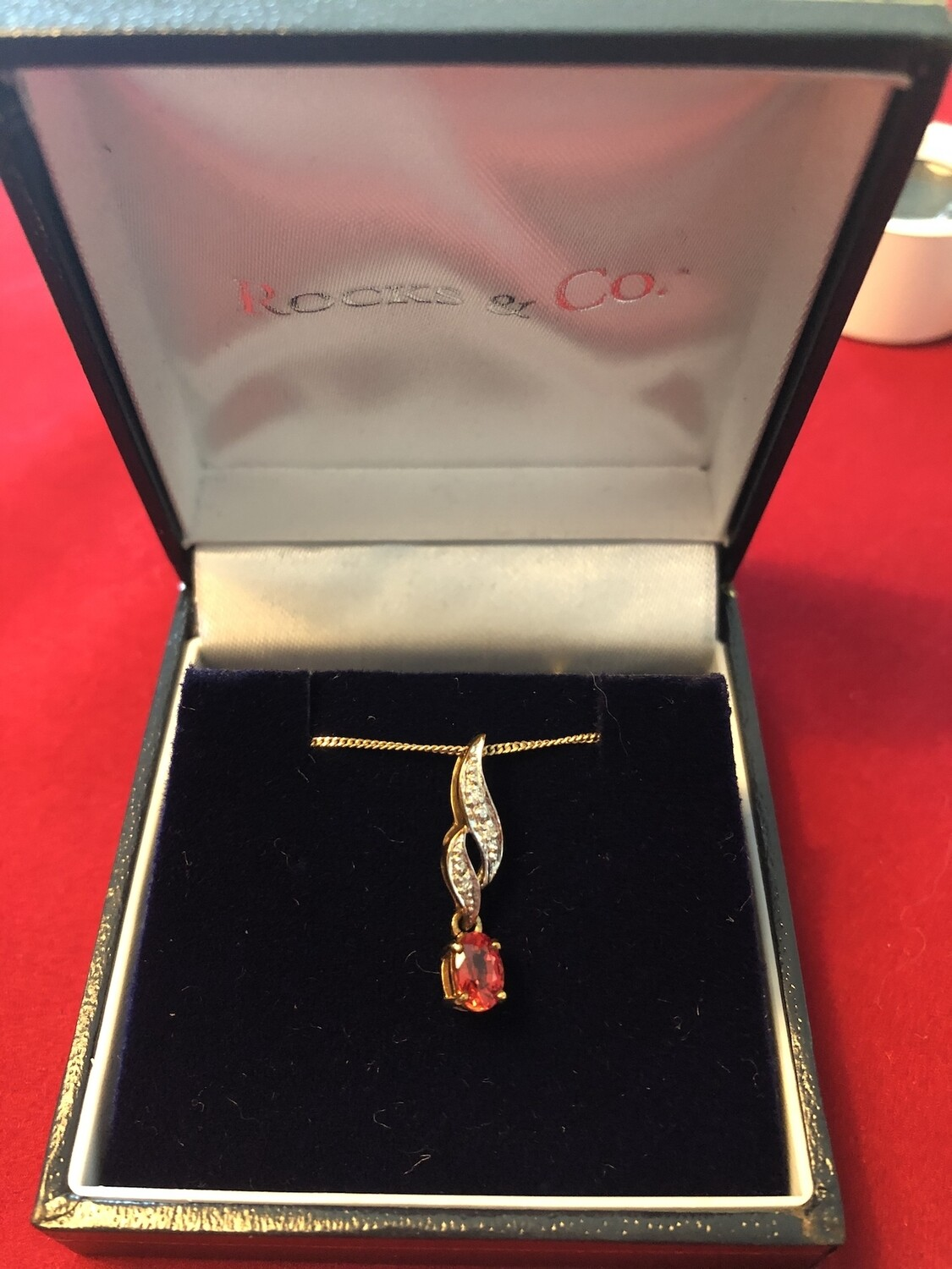 9k Yellow Gold Tanzanian Ruby Necklace - simply stunning. by Rocks & Co.