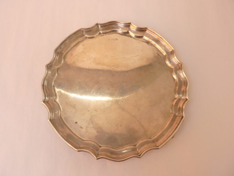 Solid Silver Card Tray (1917) - James Deakin & Sons 00011