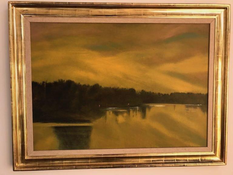 'Yellow Lake' – Oil on Canvas by Daniel Lang (1977) 00020