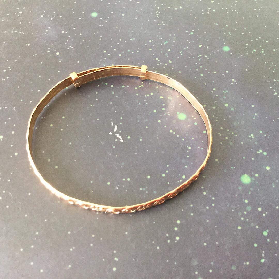Bracelet - 9ct Rolled Gold adjustable