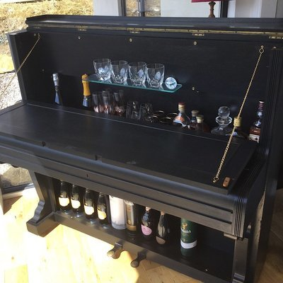 Piano Bar - upcycled from an 1885 Victorian Piano