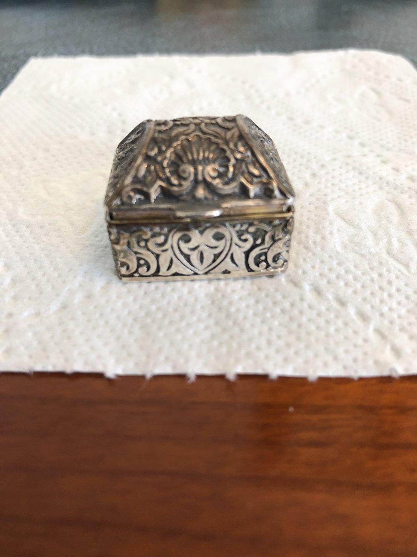 Solid Silver Pill Box (small) 1900's