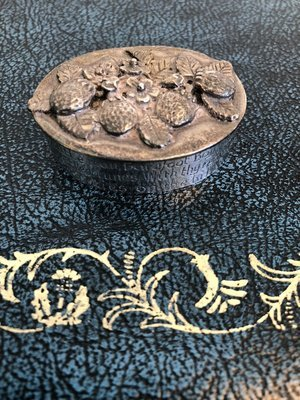Metal Pill Box or Trinket Box