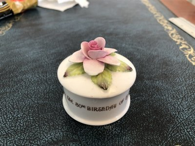 Crown Staffordshire Pill Box Queen Mother Commemorative