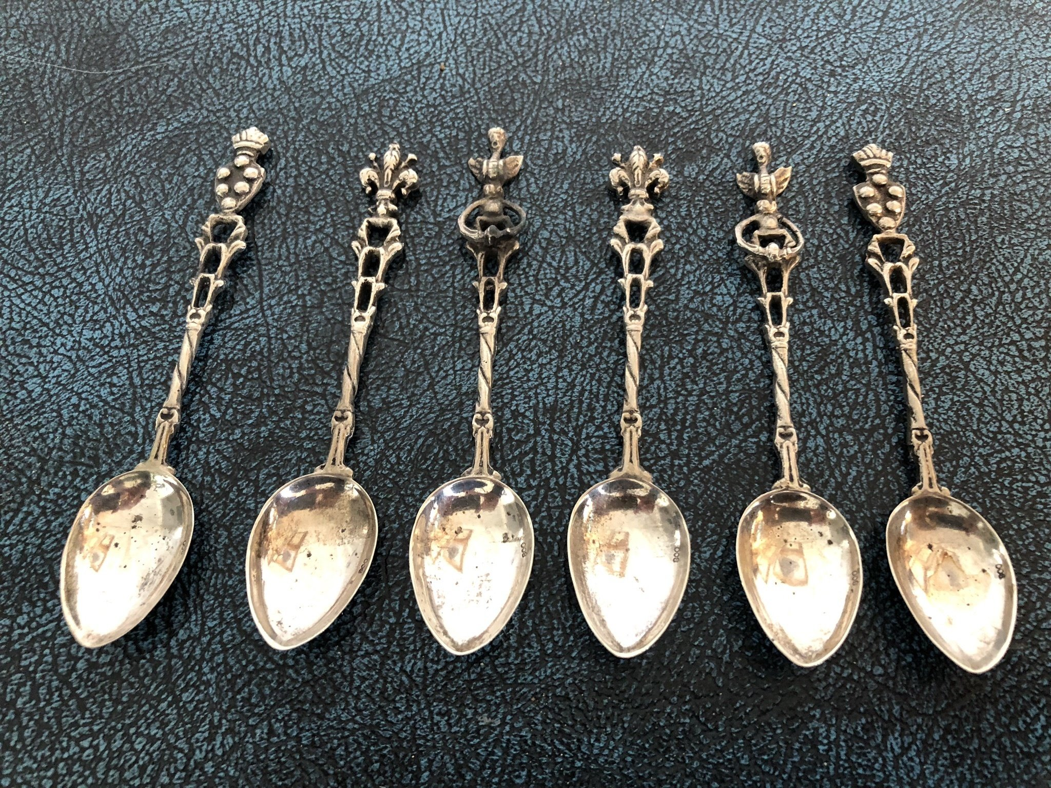 Silver Teaspoons - set of 6 - Lovely Designs 00130