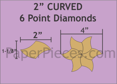 Curved 6 Point Diamonds 2 inch