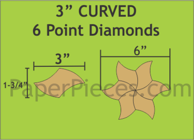 Curved 6 Point Diamonds 3 inch