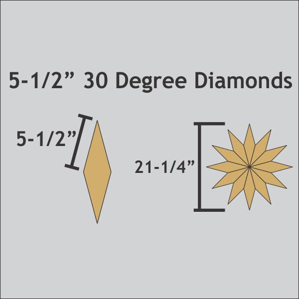 Diamonds 30 Degree  5 1/2 Inch