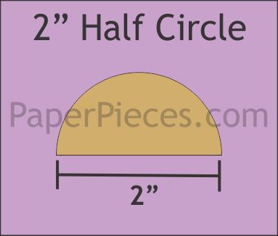 Half Circles 2 inch