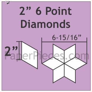 Diamanter 6 tagger 2 inch 75 stk