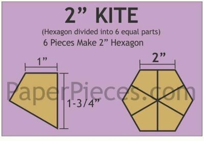 Hexagon Kite 2 inch 90 stk