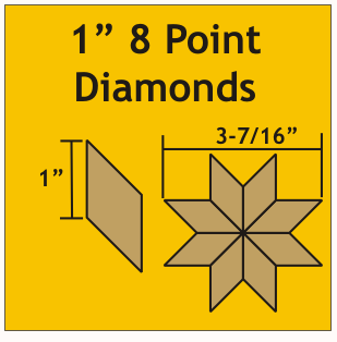 Diamonds 1 inch 8 tagger 100 stk