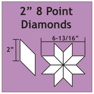 Diamonds 2 inch 8 tagget 75 stk