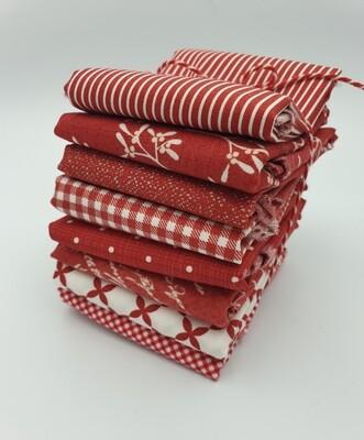 Rød stoffpakke 8 stk 30x55 cm