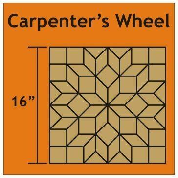 Carpenter's Wheel Block 16 inch 1 blokk