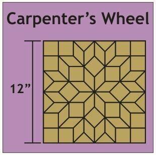 Carpenter's Wheel 12 inch 1 blokk