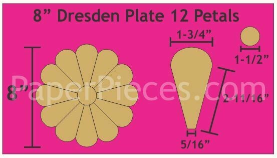Dresden 8 Inch 12 petal/ blader 2 stk