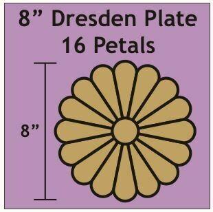 Dresteden 8 inch 16 petal/blader 2 stk
