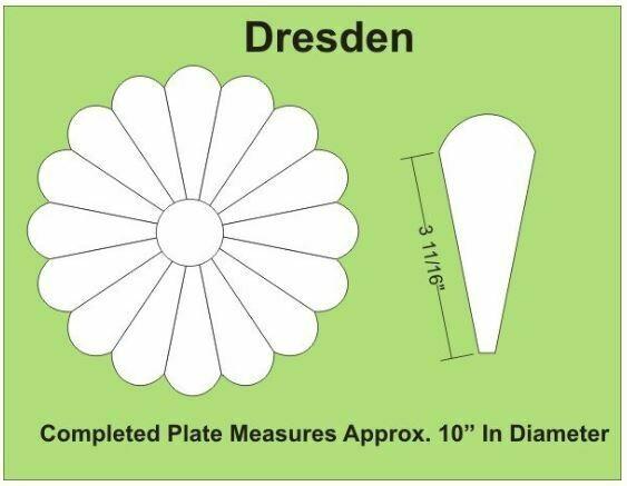 Dresden 10 inch 16 Petal/blader 6 stk