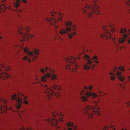 Floral Gatherings Rød med sorte tegninger
