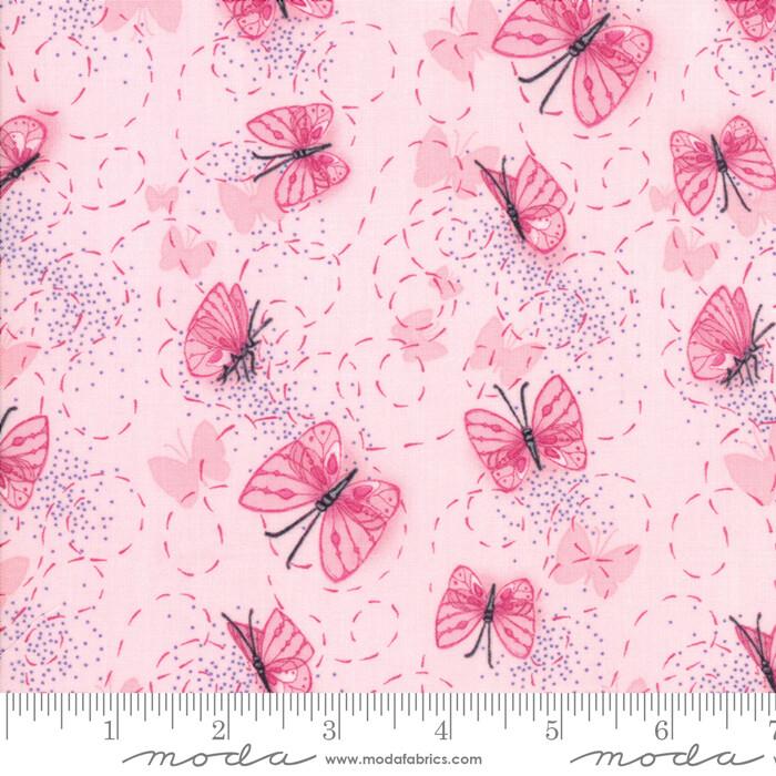 Sweet Pea Lily Primrose Rosa med sommerfugler