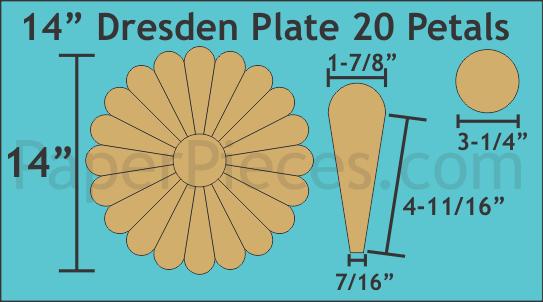 Dresden 14 inch 20 Petal/blader 6 stk