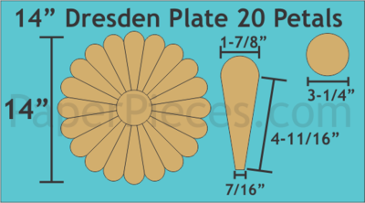 Dresden 14 inch 20 Petal/blader 1 stk