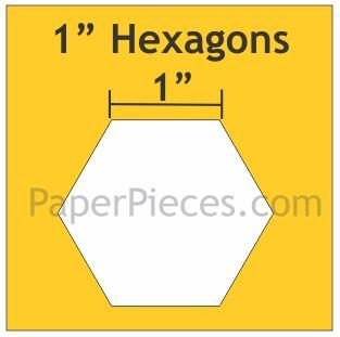 Hexagon 100 stk 1 inch