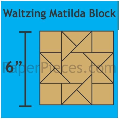 "Waltzing Mathilda 6"" Block 48 stk"