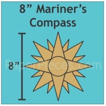 "Mariner's Compass 8"" 6 stk"