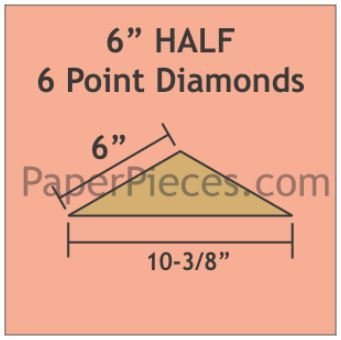 Smitten 6 inch halv diamant 12 stk