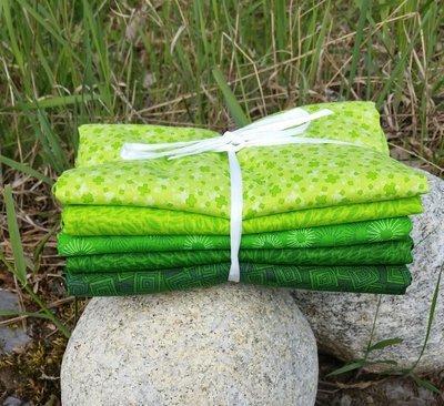 30 cm Sommergrønn pakke 5 stk forskjellige stoffer